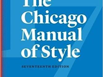 New 17th Edition of the Chicago Manual of Style