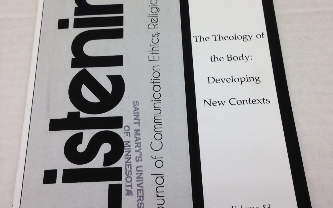 Peruse theology journal  published and edited by Susan Windley-Daoust