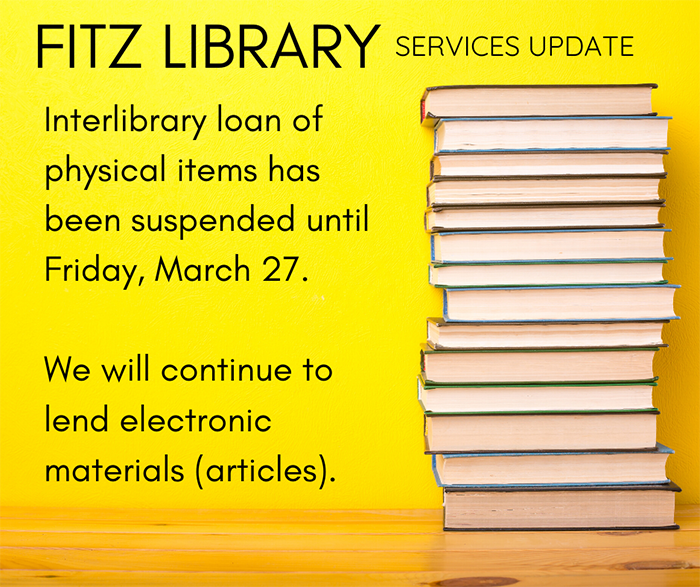 Interlibrary Loans for Books Suspended