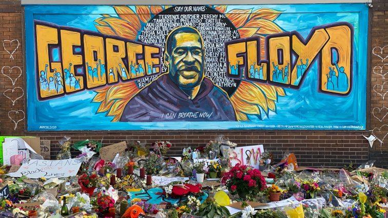 George Floyd memorial photo